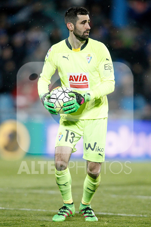 Sociedad Deportiva Eibar's Asier Riesgo during La Liga match. March 18,2016. (ALTERPHOTOS/Acero)
