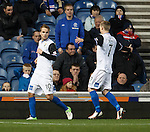 Goalscorer Andy Shinnie is deadpan as Inverness celebrate taking the lead