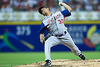 7 March 2009: #30 Eliecer Navarro of Panama pitches against Puerto Rico during the 2009 World Baseball Classic Pool D match at Hiram Bithorn Stadium in San Juan, Puerto Rico. Puerto Rico wins 7-0 over Panama.