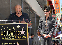 Randy Couture &amp; Criss Angel at the Hollywood Walk of Fame Star Ceremony honoring illusionist Criss Angel. Hollywood Boulevard, Los Angeles, USA 20 July 2017<br /> Picture: Paul Smith/Featureflash/SilverHub 0208 004 5359 sales@silverhubmedia.com