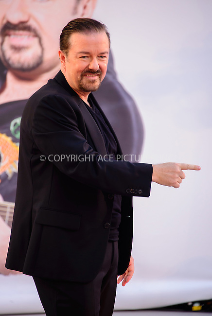 www.acepixs.com<br /> <br /> August 10 2016, London<br /> <br /> Ricky Gervais arriving at the world premiere of 'David Brent: Life On The Road' at the Odeon Leicester Square on August 10 2016 in London.<br /> <br /> By Line: Famous/ACE Pictures<br /> <br /> <br /> ACE Pictures Inc<br /> Tel: 6467670430<br /> Email: info@acepixs.com<br /> www.acepixs.com