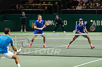ABN AMRO World Tennis Tournament, Rotterdam, The Netherlands, 18 Februari, 2017, Nicolas Mahut (FRA), Pierre-Hugues Herbert (FRA), Ivan Dodig (CRO)<br /> Photo: Henk Koster