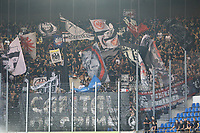 """Eintracht Frankfurt Fans feiern die """"Capital of Crime"""" - 22.08.2019: Racing Straßburg vs. Eintracht Frankfurt, UEFA Europa League, Qualifikation, Commerzbank Arena<br /> DISCLAIMER: DFL regulations prohibit any use of photographs as image sequences and/or quasi-video."""