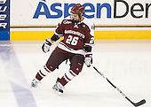 Branden Gracel (UMass - 26) - The Boston College Eagles defeated the visiting University of Massachusetts-Amherst Minutemen 2-1 in the opening game of their 2012 Hockey East quarterfinal matchup on Friday, March 9, 2012, at Kelley Rink at Conte Forum in Chestnut Hill, Massachusetts.
