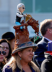 November 3, 2018 : A woman wears a hat modeled after Bob Baffert on Breeders Cup World Championships Saturday at Churchill Downs on November 3, 2018 in Louisville, Kentucky. Sam English/Eclipse Sportswire/CSM