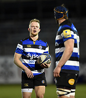 Will Homer of Bath United looks on during a break in play. Aviva A-League match, between Bath United and Harlequins A on March 26, 2018 at the Recreation Ground in Bath, England. Photo by: Patrick Khachfe / Onside Images