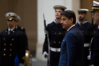 Giuseppe Conte (Italian Prime Minister).<br /> <br /> Rome, 03/02/2020. Today, Prince Salmān bin Ḥamad Āl Khalīfa, Deputy King, Crown Prince, first deputy prime minister of the Kingdom of Bahrain, and deputy supreme commander of the Bahrain Defense Force, visited Palazzo Chigi where he met with the Italian Prime Minister Giuseppe Conte.