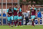 29.07.2017, Heinz-Dettmer-Stadion, Lohne, GER, FSP, SV Werder Bremen vs West Ham United<br /> <br /> im Bild<br /> Tony Martinez (West Ham #29) bejubelt seinen Treffer zum 1:2 / Tony Martinez (West Ham #29) celebrates after scoring with teammates, Andr&eacute; / Andre Ayew (West Ham #20), Marko Arnautovic (West Ham #18), <br /> <br /> Foto &copy; nordphoto / Ewert