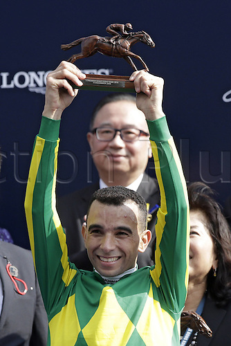 11.12.2016, Hong Kong,  CHINA.  Portrait of jockey Joao Moreira at winners presentation after winning the Hong Kong Vase. Sha tin racecourse.