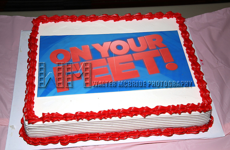Cake for 'On Your Feet!' celebrate their 500th performance at Marquis Hotel  on January 18, 2017 in New York City.