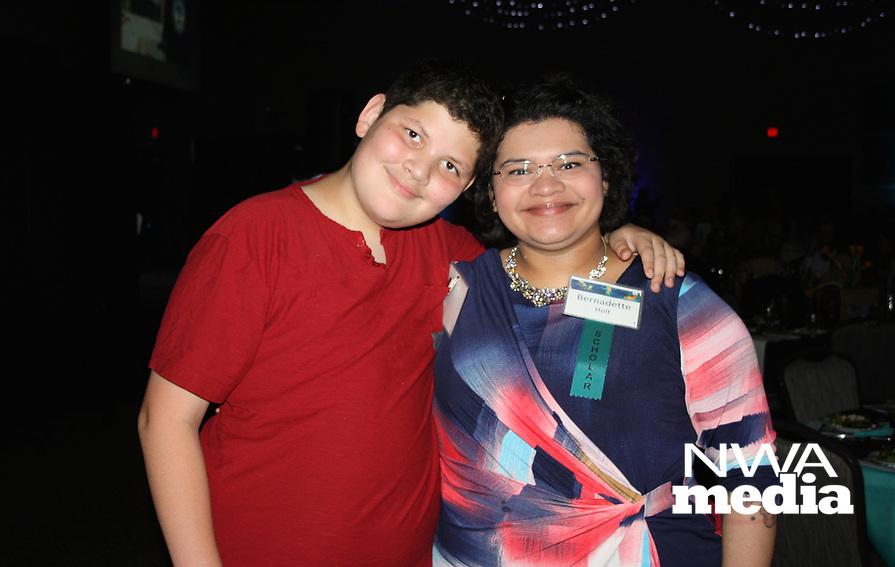 NWA Democrat-Gazette/CARIN SCHOPPMEYER Bernadette Holt and her son Stephen Holt attend Spark of Hope.