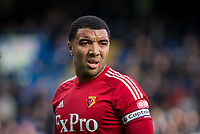 Troy Deeney of Watford during the Premier League match between Chelsea and Watford at Stamford Bridge, London, England on 21 October 2017. Photo by Andy Rowland.