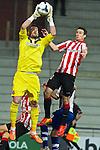 BILBAO. ESPA&Ntilde;A. FUTBOL.<br /> Partido de la Liga BBVA entre Athletic Club y Espanyol; a 16-02-14. <br /> En la imagen :<br /> 13Kiko Casilla (Espanyol Barcelona)<br /> 20Aritz Aduriz (Athletic Bilbao)<br /> PPHOTOCALL3000 / RME