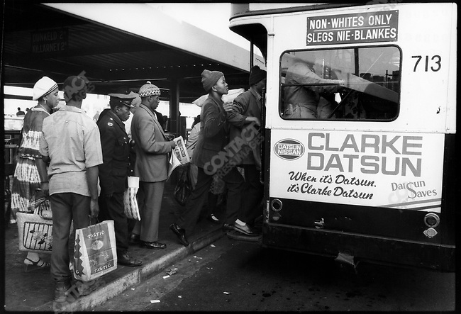 The bus station. Johannesburg, South Africa, June 1978.