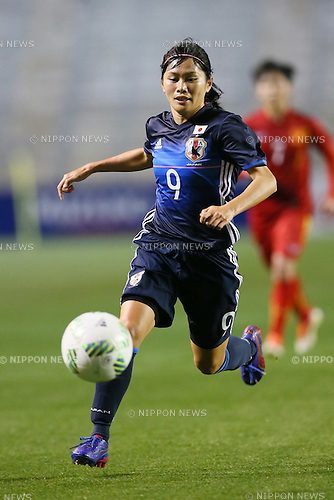 Nahomi Kawasumi (JPN), <br /> MARCH 7, 2016 - Football / Soccer : <br /> AFC Women's Olympic Football Tournament Rio 2016 Asian Qualifier Final Round match between Japan 6-1 Vietnam <br /> at Kincho Stadium, Osaka, Japan. <br /> (Photo by Yohei Osada/AFLO SPORT)