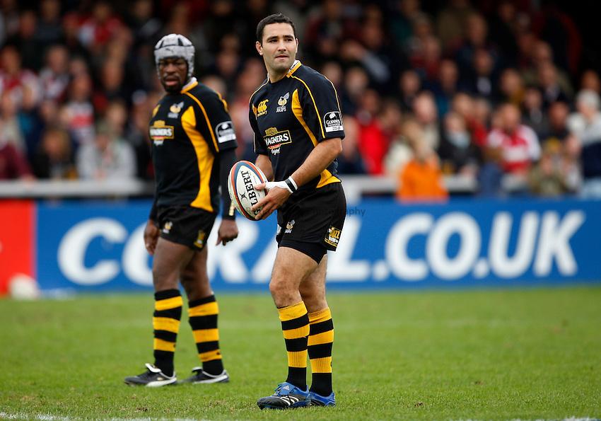 Photo: Richard Lane/Richard Lane Photography. Gloucester Rugby v London Wasps. Anglo Welsh EDF Energy Cup. 04/10/2008. Wasps' Jeremy Staunton.
