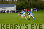 In Action Listry's Danny Wrenn and Kevin Courtney get away from firies Mike Daly and Connor O'Sullivan   in the Firies V Listry in the Castleisland Mart Kerry Junior Championship Round 2 at Farranfore on Saturday