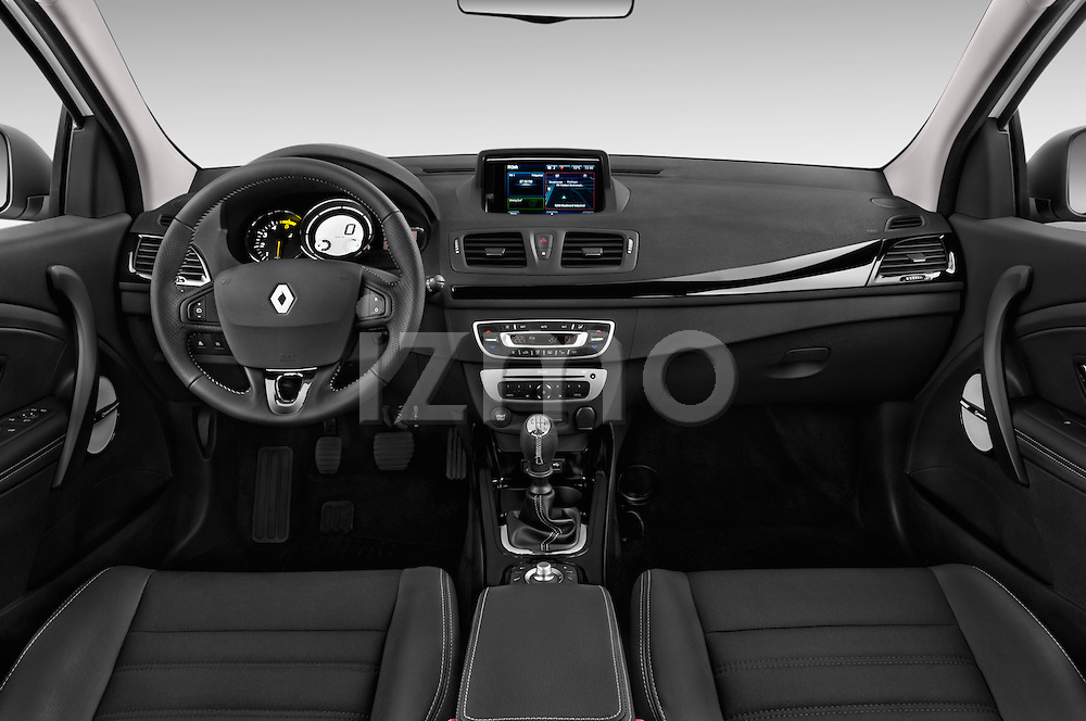 Dashboard View of 2014 Renault Megane Bose Edition Hatchback Stock Photo