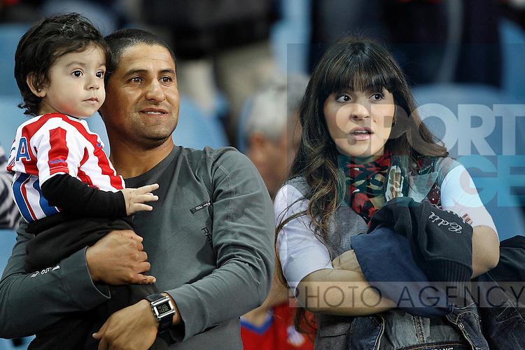 Giannina Maradona, Sergio Aguero's wife and son Benjamin during la Liga match, september 26, 2010...Photo: Cesar Cebolla / ALFAQUI