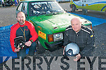3080-3083.RALLY TIME: Sean Kelliher, Tralee (driver) and his navigator Mike Dowling, Ballyduff about to take part in the Circuit of Kerry car rally last Sunday morning at the Carlton Hotel..