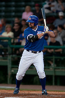 April 21 2010: Matthew Spencer(33) of the Daytona Beach Cubs during a game vs. the Tampa Yankees at Jackie Robinson Ballpark in Daytona Beach, Florida. Daytona, the Florida State League High-A affiliate of the Chicago Cubs, lost the game against Tampa, affiliate of the New York Yankees, by the score of 4-1.  Photo By Scott Jontes/Four Seam Images