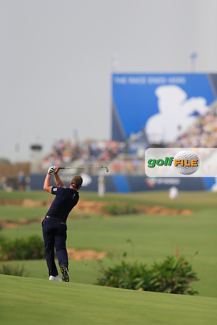 Luke Donald (ENG) during round 4 of the DP World, Tour Championship, Dubai, UAE.<br /> Picture: Fran Caffrey www.golffile.ie