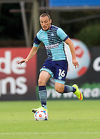 Michael Harriman of Wycombe Wanderers during the Friendly match between Aldershot Town and Wycombe Wanderers at the EBB Stadium, Aldershot, England on 26 July 2016. Photo by Alan  Stanford.