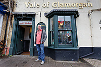 Pictured: Patrick Sheehan outside the Vale of Glamorgan pub in Cowbridge, Wales, UK. Wednesday 06 November 2019<br /> Re: People in Cowbridge share their views after the Vale of Glamorgan MP Alun Cairns announced that he has resigned from his role as a Secretary for Wales.
