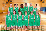Ireland U16 Basketball <br /> L-R S&iacute;ofra O Shea Caherdaniel Kerry, Shauna Dooley, Lisa Blaney, Hazel Finn, Gillian Wheeler, Ciara Byrne <br /> Back-L-R Sin&eacute;ad Boyle, Kate Hickey, Fatimah Akorede, Abigail Rafferty, Sabhbh Edwards Murphy, Erin Maguire. <br /> Ireland v Scotland in Kenmare on Sunday 1-7-2018