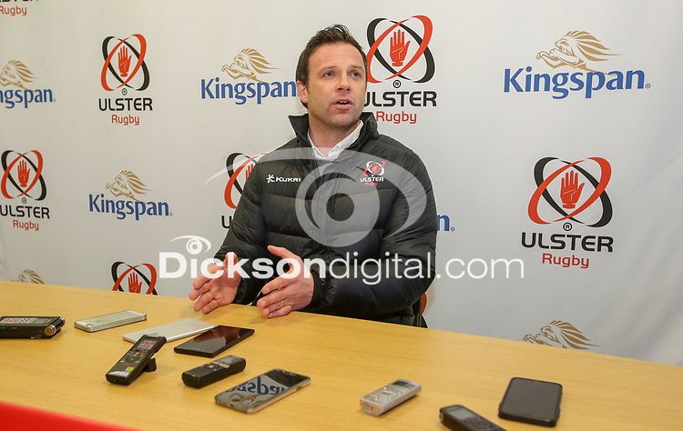 Tuesday 6th February 2018 | Ulster Rugby Media Conference<br /> <br /> Ulster's Rugby Operations Director Bryn Cunningham during the Ulster Rugby Media Conference held at Kingspan Stadium, Ravenhill Park, Belfast, Northern Ireland. Photo by John Dickson / DICKSONDIGITAL