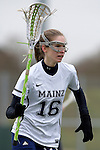 GER - Mainz, Germany, March 20: During the 1. Bundesliga Damen lacrosse match between Mainz Musketeers (white) and SC Frankfurt 1880 (red) on March 20, 2016 at Sportgelaende Dalheimer Weg in Mainz, Germany. Final score 7-12 (HT 3-5). (Photo by Dirk Markgraf / www.265-images.com) *** Local caption *** Maike Friess #16 of Mainz Musketeers