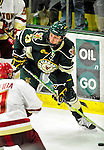 12 November 2010: University of Vermont Catamount forward Connor Brickley, a Freshman from Everett, MA, in action against the Boston College Eagles at Gutterson Fieldhouse in Burlington, Vermont. The Eagles edged out the Cats 3-2 in the first game of their weekend series. Mandatory Credit: Ed Wolfstein Photo