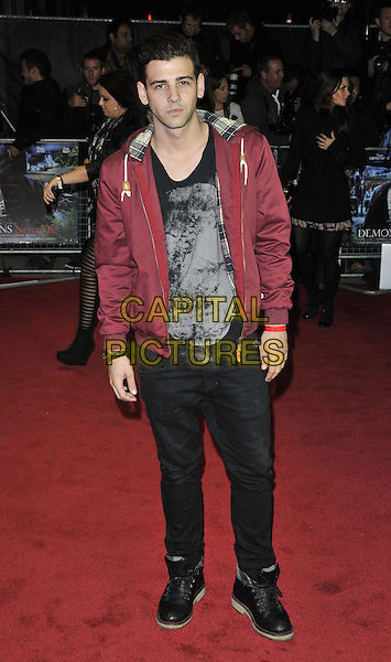 Jay Camilleri.UK film premiere of 'Demons Never Die' held at the Odeon West End - Arrivals.London, England..October 10th, 2011.full length jacket trousers grey gray top burgundy maroon black .CAP/CAN.©Can Nguyen/Capital Pictures.