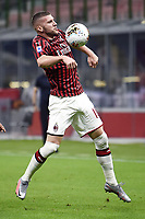 Ante Rebic of AC Milan during the Serie A football match between AC Milan and Bologna FC at stadio Giuseppe Meazza in Milano ( Italy ), July 18th, 2020. Play resumes behind closed doors following the outbreak of the coronavirus disease. <br /> Photo Image Sport / Insidefoto