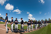 14 September 2009: Team Great Britain stands prior to the 2009 Baseball World Cup Group F second round match game won 15-5 by South Korea over Great Britain, in the Dutch city of Amsterdan, Netherlands.