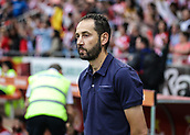 June 4th 2017, Estadi Montilivi,  Girona, Catalonia, Spain; Spanish Segunda División Football, Girona versus Zaragoza; Pablo Machin, Girona's manager watches the action from the sideline