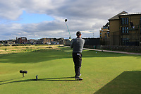 Padraig Harrington (IRL) on the 17th tee during Round 3 of the Alfred Dunhill Links Championship 2019 at St. Andrews Golf CLub, Fife, Scotland. 28/09/2019.<br /> Picture Thos Caffrey / Golffile.ie<br /> <br /> All photo usage must carry mandatory copyright credit (© Golffile | Thos Caffrey)