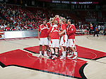 Wisconsin Badgers basketball team huddles prior to an NCAA college women's basketball game against the Duke Blue Devils during the ACC/Big Ten Challenge at the Kohl Center in Madison, Wisconsin on December 2, 2010. Duke won 59-51. (Photo by David Stluka)
