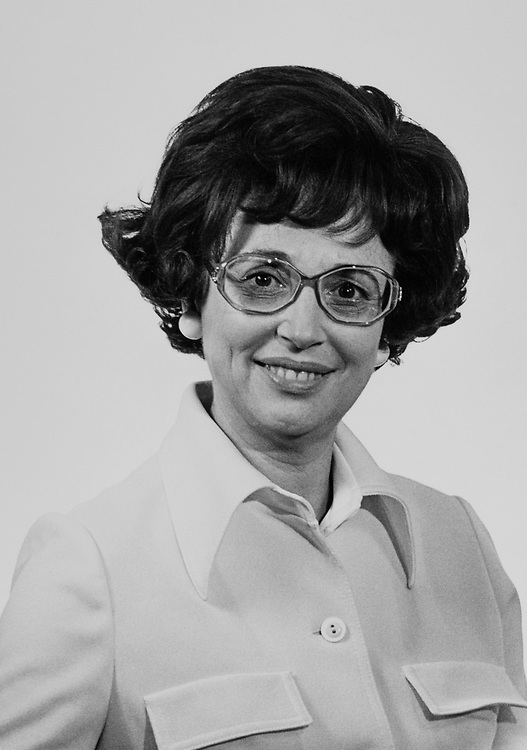 Close-up of Rep. Gladys Spellman, D-Md., in 1976. (Photo by Dev O'Neill/CQ Roll Call)