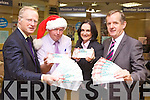 Tralee Credit Union and Kerry MABS launched their joint ?Take the Mayhem out of Christmas? campaign this week highlighting their top tips for budgeting this this festive season. Pictured from l-r were: Teddy Reynolds (Kerry MABS), Fintan Ryan (Manager TCU), Suzanne Ennis (TCU) and Jerry Doyle (Kerry MABS)