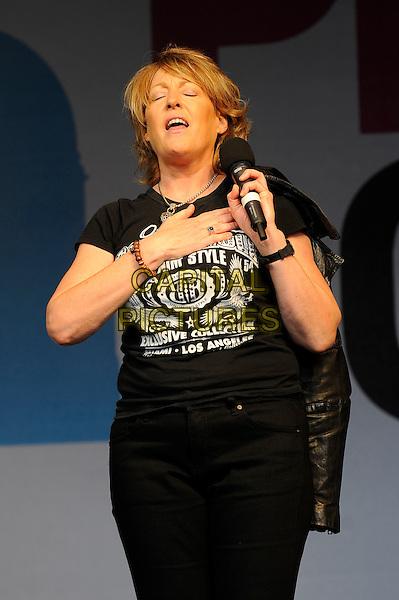 LONDON, UK, JUNE 28: Katrina Leskanich perfoms live on stage at Pride London in Trafalgar Square on June 28th 2014 in London, England, UK.<br /> CAP/MAR<br /> &copy; Martin Harris/Capital Pictures
