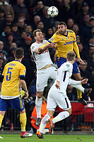 Andrea Barzagli of Juventus and Harry Kane of Tottenham Hotspur during Tottenham Hotspur vs Juventus, UEFA Champions League Football at Wembley Stadium on 7th March 2018