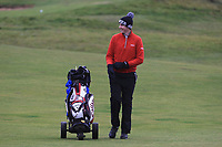Adam Smith (Mullingar) on the 12th fairway during Round 2 of the Ulster Boys Championship at Portrush Golf Club, Portrush, Co. Antrim on the Valley course on Wednesday 31st Oct 2018.<br /> Picture:  Thos Caffrey / www.golffile.ie<br /> <br /> All photo usage must carry mandatory copyright credit (&copy; Golffile | Thos Caffrey)