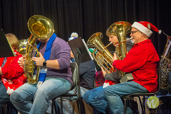 Connecticut Tuba Christmas concert band.