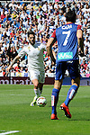 Real Madrid´s Isco and Eibar´s Ander Capa during 2014-15 La Liga match between Real Madrid and Eibar at Santiago Bernabeu stadium in Madrid, Spain. April 11, 2015. (ALTERPHOTOS/Luis Fernandez)