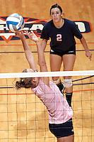 SAN ANTONIO, TX - OCTOBER 21, 2010: The Texas A&M University Corpus Christi Islanders vs. the University of Texas at San Antonio Roadrunners Women's Volleyball at the UTSA Convocation Center. (Photo by Jeff Huehn)
