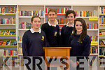 For the first-time ever Pobailscoil Inbhear Sceine's debating team have made it to the knock-out round of the annual Concern debates putting them in the top 16 in the country. .L-R Ceira Whitling, Elliot Ward, Rachel Topham and Aoife O'Shea.