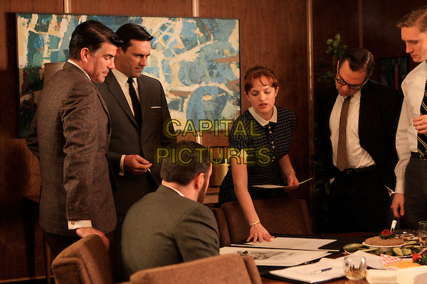 MICHAEL GLADIS, BRYAN BATT, JON HAMM, ELISABETH MOSS, MARK KELLY, AARON STATON<br /> in Mad Men (Season 2)<br /> *Filmstill - Editorial Use Only*<br /> CAP/FB<br /> Image supplied by Capital Pictures