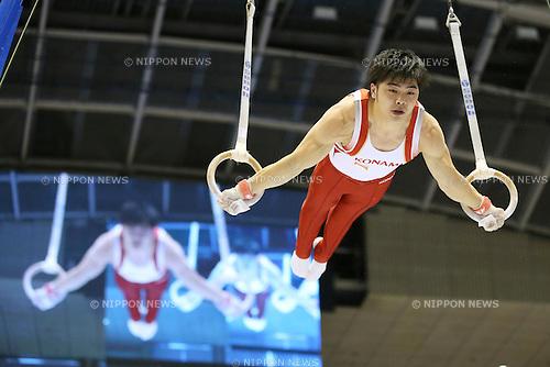 Koji Yamamuro (JPN), <br /> June 30, 2013 - Artistic Gymnastics : <br /> The 67th All Japan Artistic Gymnastics Apparatus Championship, Men's Rings Final <br /> at Tokyo Metropolitan Gymnasium, Tokyo, Japan. <br /> (Photo by Daiju Kitamura/AFLO SPORT)