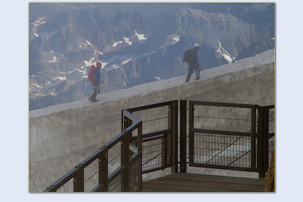 Photoshop composite. Armchair mountaineer, are you a doer or viewer? <br />
